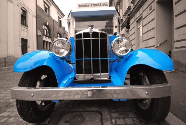 Zabytkowy pojazd MPK Kraków