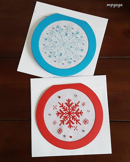 kartki śnieżynki
