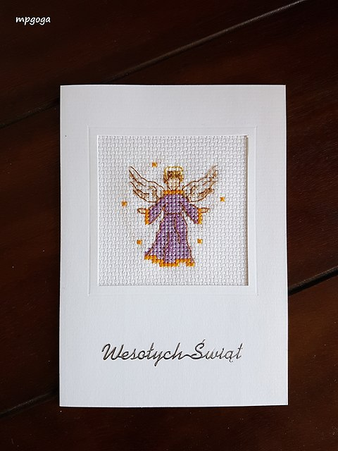 kartka z aniołkiem