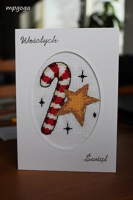 kartka świąteczna laska