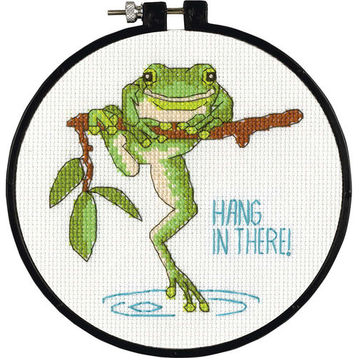 Dimensions-Counted-Cross-Stitch-Frog-Hang-in-There-72-74821