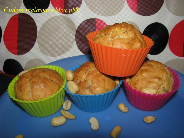 muffiny bananowo-fistaszkowe