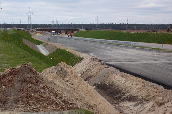 Z mostu w kierunku na Białystok