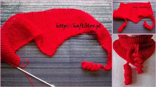 czerwony szaliczek