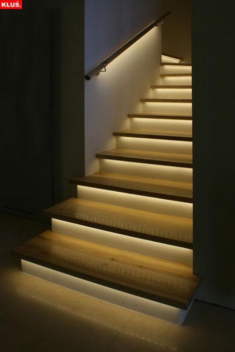 Oświetlenie LED w schodach, poręczy 7W! zdjęcia na