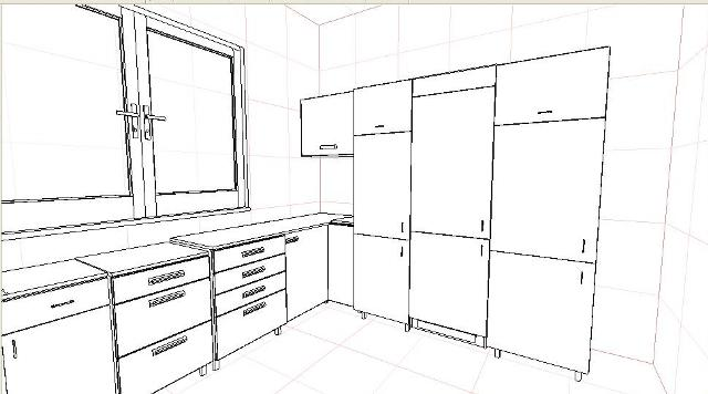 projekt kuchni rysunek techniczny meenutcom najlepszy