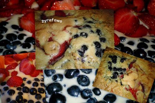 ciasto truskawkowo-jagodowe