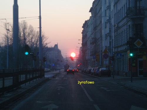 Wroclaw, wschod slonca
