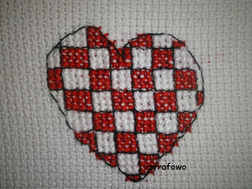 obrus z sercami 08