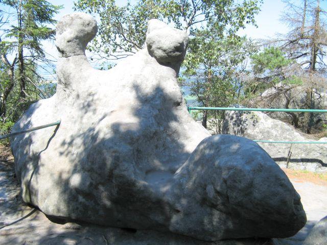 G�ry Sto�owe - B��dne Ska�y - skalne siod�o