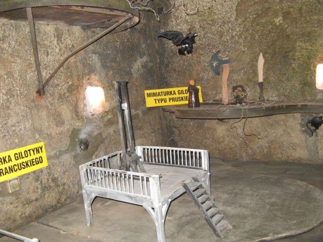 Kłodzko - trasa podziemna - gilotyna typu pruskiego