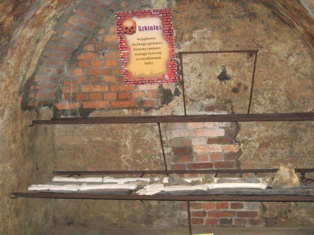 Kłodzko - trasa podziemna - szkielet