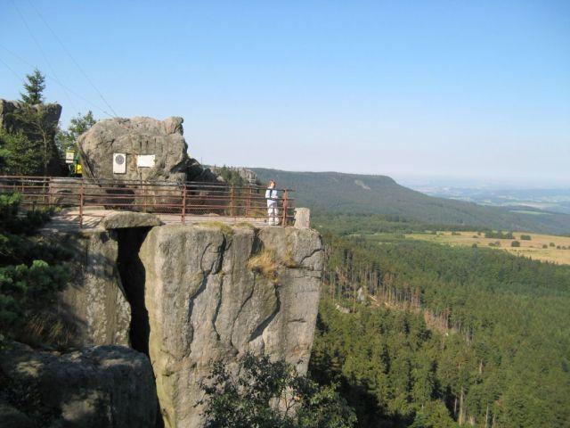 Góry Stołowe - Szczeliniec - taras widokowy