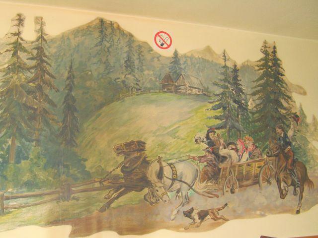 Kosarzyska - malunki w knajpie