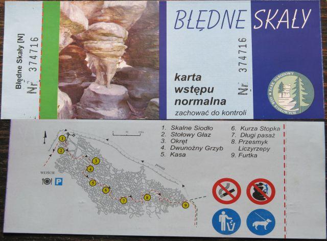 Góry Stołowe - bilet wstępu na Błędne Skały