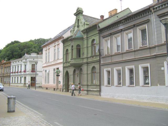 Czechy - Javornik - ulica i kamienice