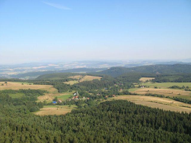 Góry Stołowe - widok na Pasterkę ze Szczelińca