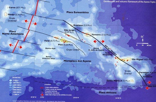 Azory - plyty tektoniczne
